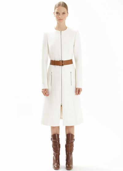 Michael Kors white coat
