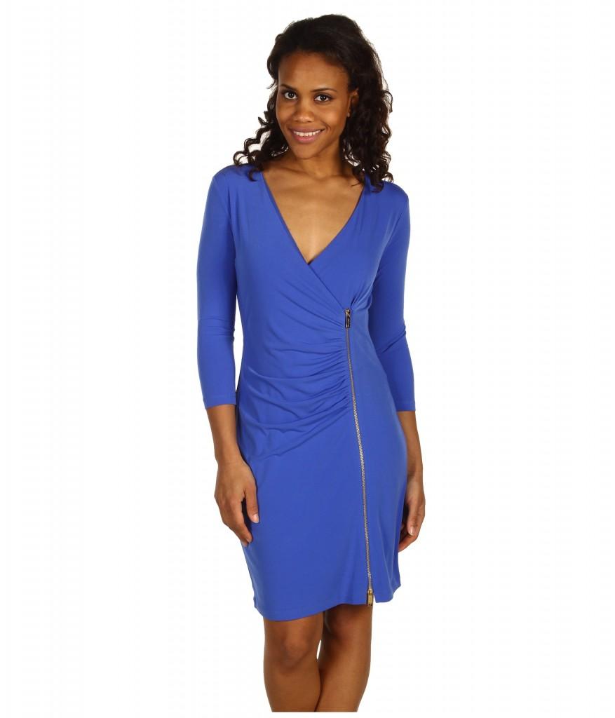 Calvin Klein dress in a lapis blue.
