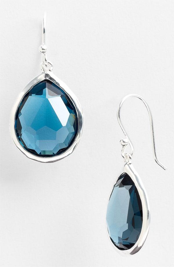 """""""Rock candy"""" blue Ippolita earrings."""