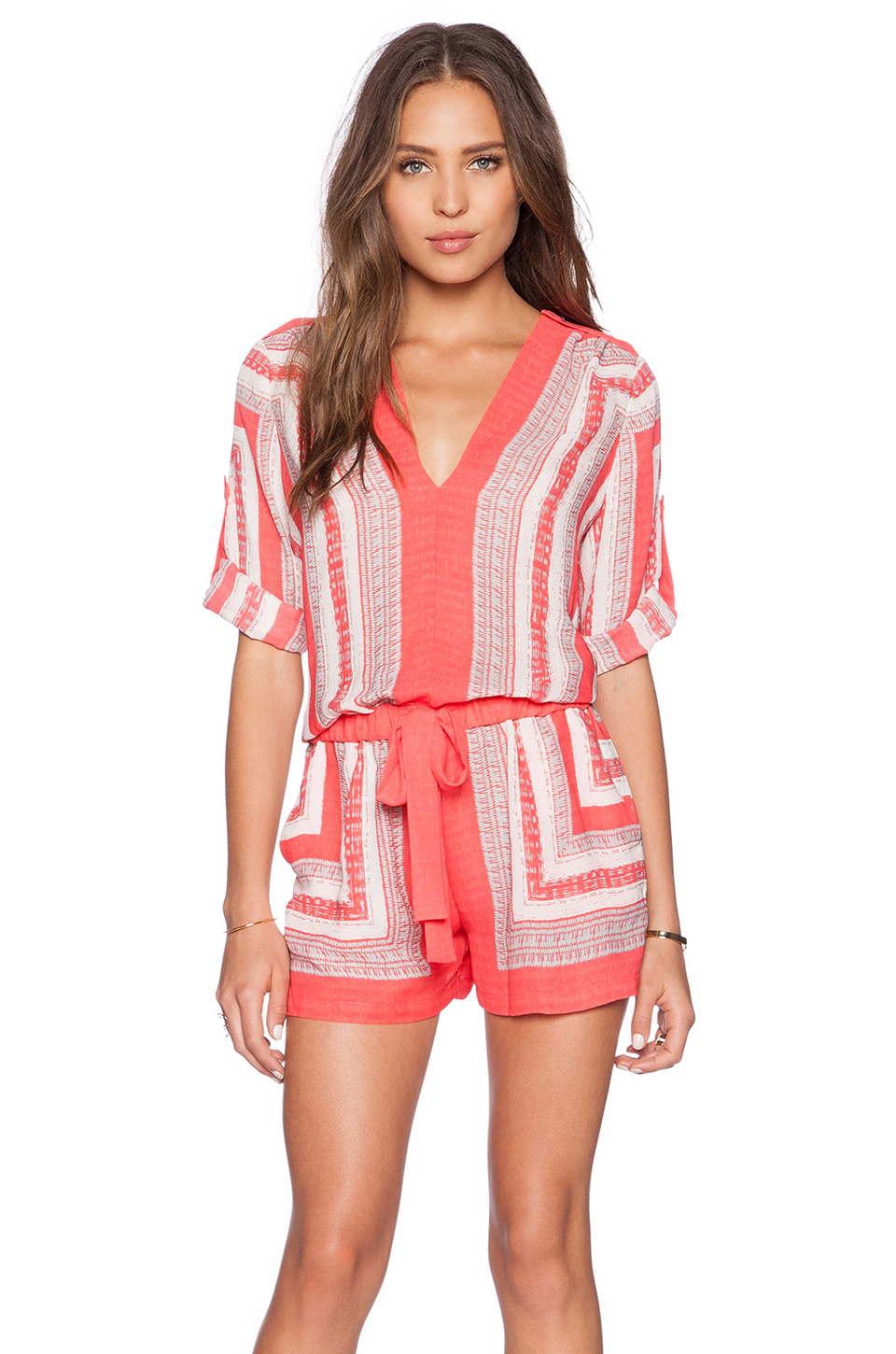 a2ec7cd0ab48c0 Rompers are always a cute alternative to a dress in the warm weather. Love  this one by BCBG!
